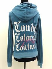 Juicy Couture Jacket Hooded Candy Colored Cotton Blend Full Zip Women's Jr M