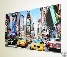 "TIMES SQUARE NEW YORK  CANVAS ART PICTURE LARGE 18"" X 32"" INCH    XL101"