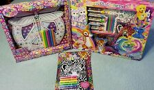 Lisa Frank Lot NEW Posh Diary Doodle PEACE SIGN Stationery Set Color Your World