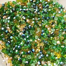 VERDE MIX 100 4mm Crystal Beads Gioielli/TIARE/vino in vetro charms