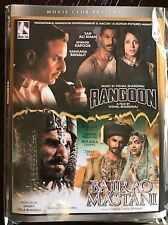 DVD Rangoon &  Bajirao Mastani Hindi Movie 2 In 1 Bollywood Movie