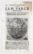 Hyäne-Tier-Tiere Emblemata-Kupferstich Pecoul 1702