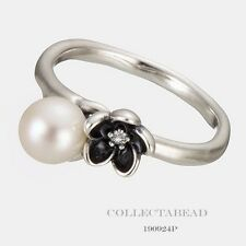 Authentic Pandora Silver Mystical Floral White Pearl CZ Ring Size 58 (8) 190924P