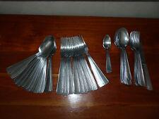 GROS LOT de 49 COUVERTS fourchette cuillère en inox lourd ANCIEN VINTAGE #MH