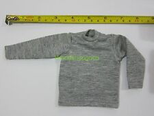 "1/6 Scale Tee Hot Gray Long Sleeves T-Shirt For 12"" Action Figure Toys"