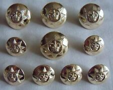 """Set of British Army:""""ROYAL CORPS of TRANSPORT BUTTONS"""" (For Service Dress Tunic)"""