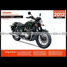 TRIUMPH BONNEVILLE T 100 Steve McQUEEN 2012 - Fiche Moto MJ #392