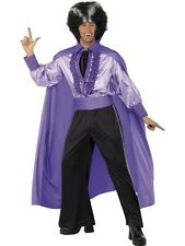 Disco Dracula Costume Elvis Dracula Purple Suit 50's Halloween Mens Fancy Dress