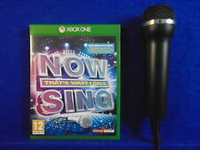 xbox one NOW THAT'S WHAT I CALL MUSIC SING + Microphone Mic KARAOKE SINGING PAL