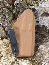Kydex IWB holster for Kimber Micro 9, (9mm) - Coyote Brown - InvisiHolster