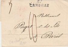 1823 LETTRE DE CAMBRAIS NORD A VOIR maque 57 CAMBRAIS