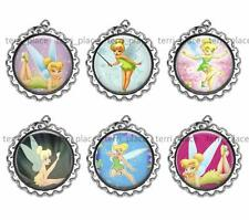 Set of 6 Fairies Bottle Caps DIY Make Jewelry Necklaces Earrings Zipper Pulls +