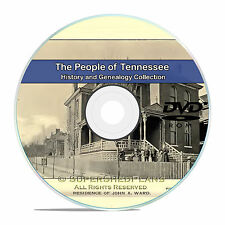 Tennessee TN, Civil War, Family Tree History and Genealogy 92 Books DVD CD B16