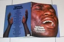 Spartiti SPIRITUALS AND GOSPELS - OTTIMO 1975 Songbook Gesù Cristo Jesus Christ