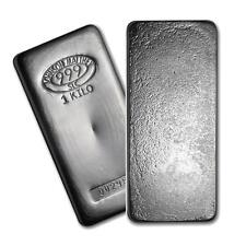 One piece 1 kilo 0.999 Fine Silver Bar Johnson Matthey Lot 7146