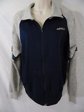 VINTAGE Adidas Womens M / Medium Track Jacket Full Zip Sweatshirt BLUE & GRAY