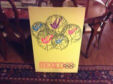 1968 mexico olympic poster on board