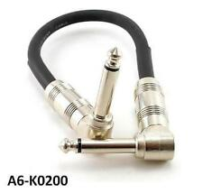 """6"""" Kirlin Right-Angle 1/4"""" Mono 20AWG Male/Male Effects Pedal Instrument Cable"""