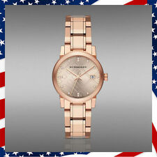 USA SELLER* 15 GENUINE DIAMOND AUTHENTIC BURBERRY BU9126 ROSE GOLD LADYS WATCH
