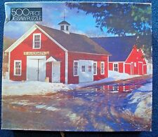jigsaw puzzle 500 pc THE VILLAGE SMITHY Golden 4646-45 rural farm in the snow
