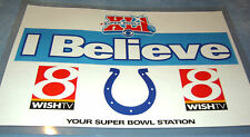 RARE INDIANAPOLIS COLTS SUPER BOWL XLI 'I BELIEVE' POSTER - MINT!