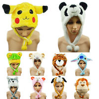 Cartoon Animal Hat Fluffy Plush Cap Unisex Perfect Gift for Him or Her Hot J