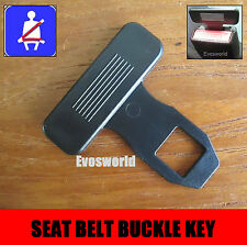 SEAT BELT ALARM BUCKLE KEY SAFETY STOP CLIP CLASP RENAULT CLIO ESTATE