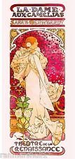 La Dame Aux Camelias Vintage French Nouveau France Poster Print Advertisement