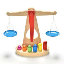 1 Set Balance Scale Toy Montessori Educational Toy Baby Early Development Toy DS