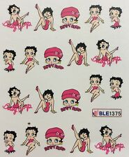 Nail Art Water Decals Betty Boop Show Girl Valentine's Day BLE1375