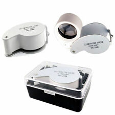 NEW 40 x 25mm EYE GLASS / PIECE, MAGNIFIER, JEWELERS LOUPE / LOOP CW LED LIGHT