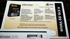 NEW! AVG Ultimate 2015 Unlimited Devices / 1 Year - Free upgrade to 2016