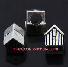 P403 10pc Tibetan Silver Charm house Spacer Beads accessories wholesale