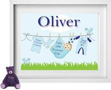 BABY BOYS NAME | Personalised Picture | New Baby | Gift | FREE POST | (NP151)