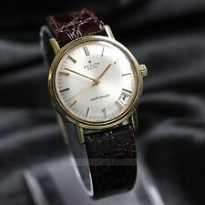 ZENITH 2600 Automatic 20 Micron Gold Plate 34mm Mens Gents Vintage Dress Watch