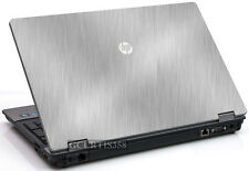 BRUSHED ALUMINUM Vinyl Lid Skin Cover Decal fits HP ProBook 6550b Laptop