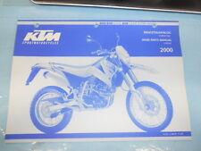 2000 KTM 400 640 LC4-E 640 LC4-E Super Moto Chassis Spare Parts Manual 320499