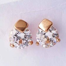 fashion jewelry Rose Gold Filled Rhinestone jewelry Crystal stud Earrings