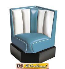 HW-60/60-Blue American Dinerbank Eckbank Diner Bänke Möbel 50´s Retro USA Style