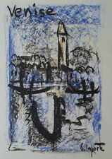 Georges LAPORTE (1926-2000) Technique mixte/papier Venise P1797