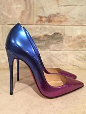 NIB Christian Louboutin So Kate 120 Patent Rose Pink Blue Ombre Heel Pump 39