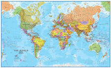 World MegaMap 1:20 Wall Map, Educational Poster Giant Poster Print, 77x47