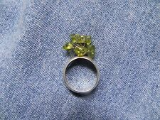 Peridot Chip Cluster Sterling Silver Ring size 7 by Joe Piaso Jr. Navajo