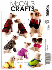 McCall's Sewing Pattern M5998 Dog clothes Coat Dress Robe Leggings Cape Bib 5998