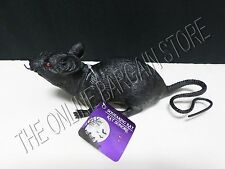 Halloween Spooky Scary Creepy Noise Making Squeaking Rubber Rat Mouse Prop Decor