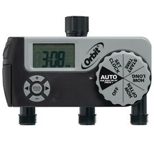 NEW! Orbit 56233D 3-Outlet Digital Watering Timer with Rain Delay Feature