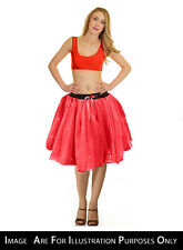 Women 3 Layer Crazy Chick Fancy Dress Party Red TuTu Skirt