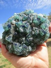 English Fluorite Crystals, Green and Purple Become Blue in Bright Light