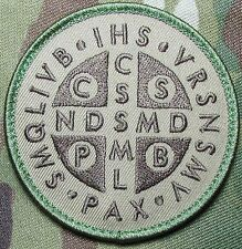 SAINT BENEDICT CROSS MEDAL CRUSADER TACTICAL MULTICAM HOOK MORALE PATCH