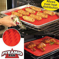 Pyramid Pan Non Stick Fat Reduce Silicone Cooking Mat Oven Baking Tray Sheets